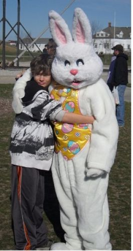 Easter bunny with Kid